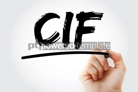 Business: CIF - Cost Insurance Freight acronym with marker business conce #17259