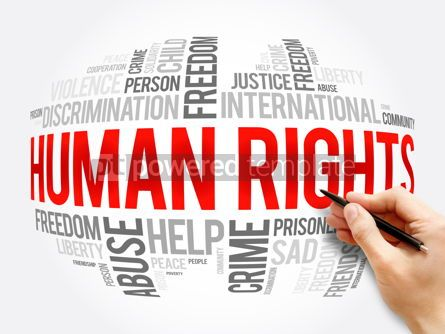 Business: Human rights word cloud collage social concept #17275