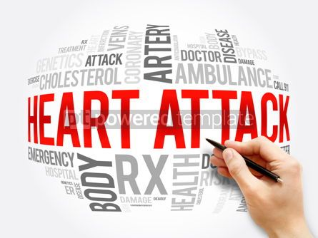 Business: Heart Attack word cloud collage health concept #17279