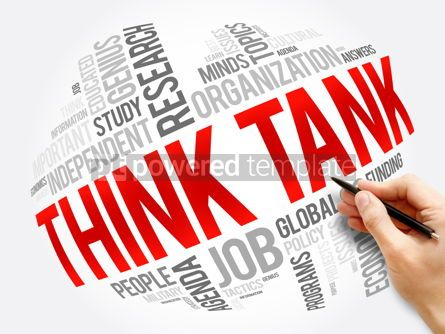 Business: Think Tank word cloud collage social concept #17309