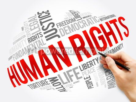 Business: Human rights word cloud collage social concept #17314
