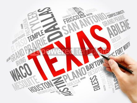 Business: List of cities in Texas USA state word cloud #17320