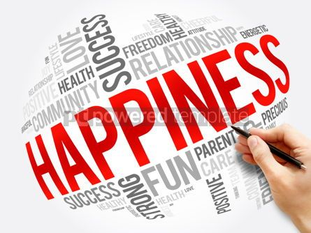 Business: HAPPINESS word cloud collage concept #17321