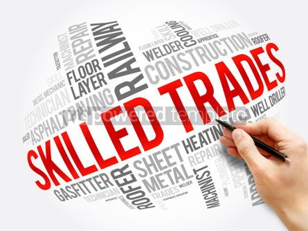 Business: Skilled Trades word cloud collage social concept #17322