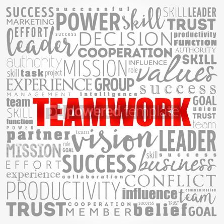 Business: TEAMWORK word cloud collage business concept background #17330