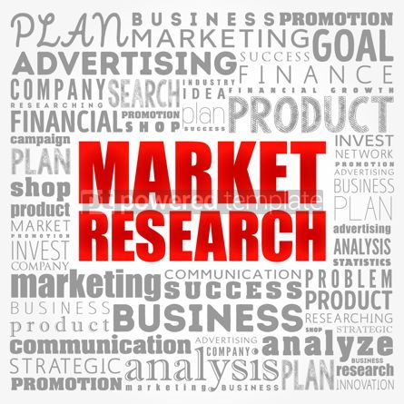 Business: Market research word cloud collage business concept background #17331