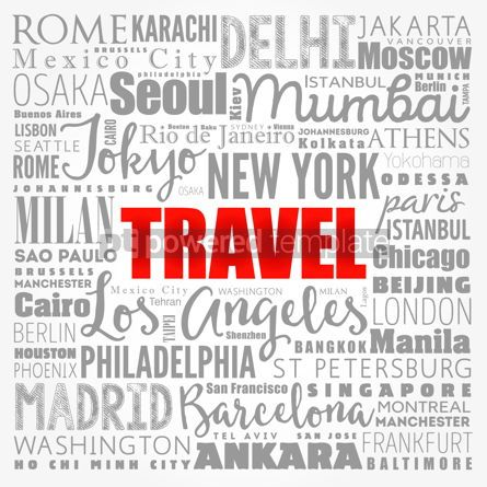 Business: TRAVEL word cloud concept made with words cities names business #17332