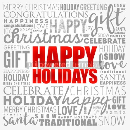 Business: Happy Holidays word cloud collage holiday concept background #17333