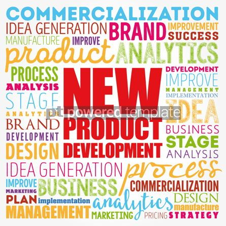 Business: New product development word cloud collage business concept bac #17341