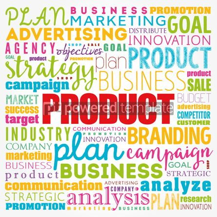 Business: PRODUCT word cloud collage business concept background #17343