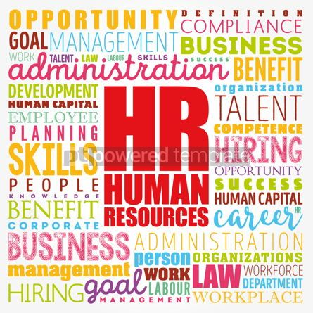 Business: HR - Human Resources word cloud collage business concept backgr #17349