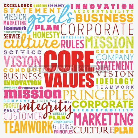 Business: Core values word cloud collage business concept background #17350