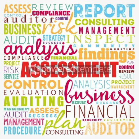 Business: ASSESSMENT word cloud collage business concept background #17353