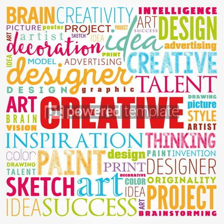 Business: CREATIVE word cloud creative business concept background #17354