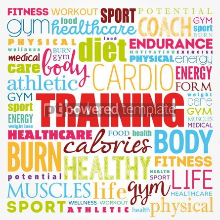 Business: TRAINING word cloud fitness sport health concept background #17357
