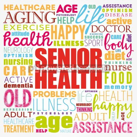 Business: Senior health word cloud collage social concept background #17359