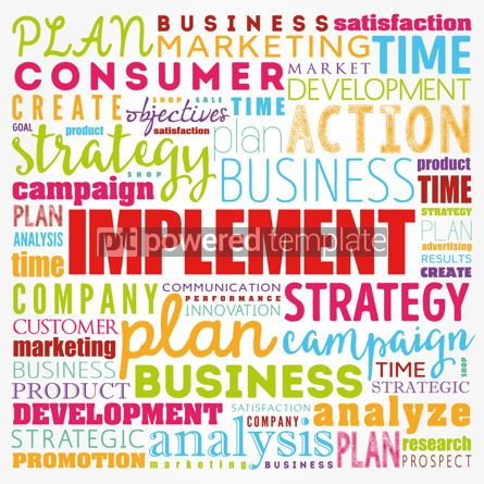 Business: Implement word cloud collage business concept background #17361