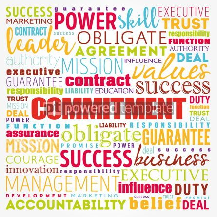 Business: Commitment word cloud collage business concept background #17362