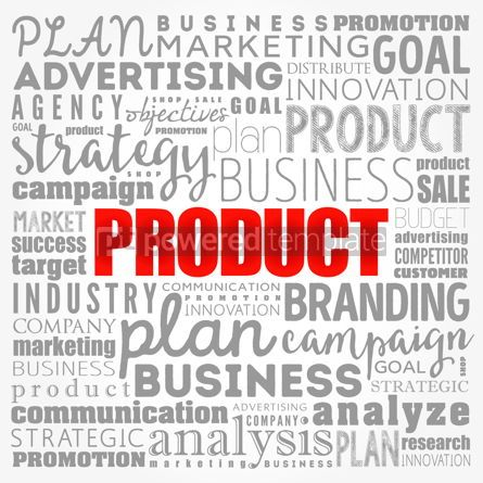 Business: PRODUCT word cloud collage business concept background #17364