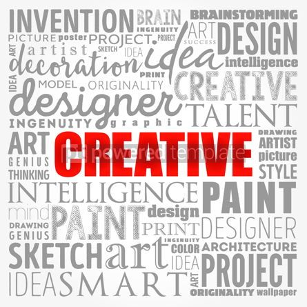 Business: CREATIVE word cloud creative business concept background #17367