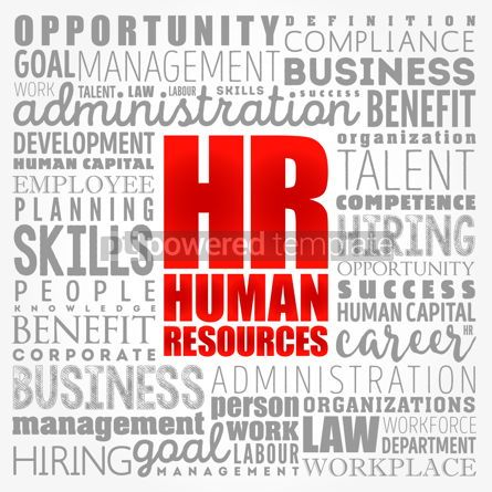 Business: HR - Human Resources word cloud collage business concept backgr #17371