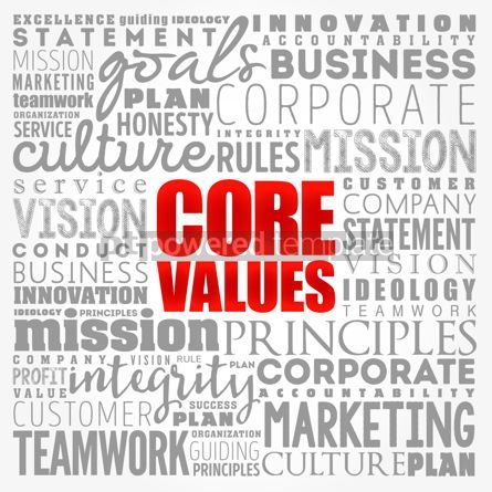 Business: Core values word cloud collage business concept background #17372
