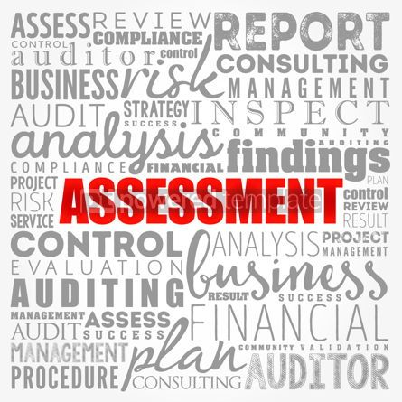 Business: ASSESSMENT word cloud collage business concept background #17375