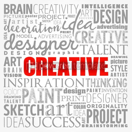 Business: CREATIVE word cloud creative business concept background #17376