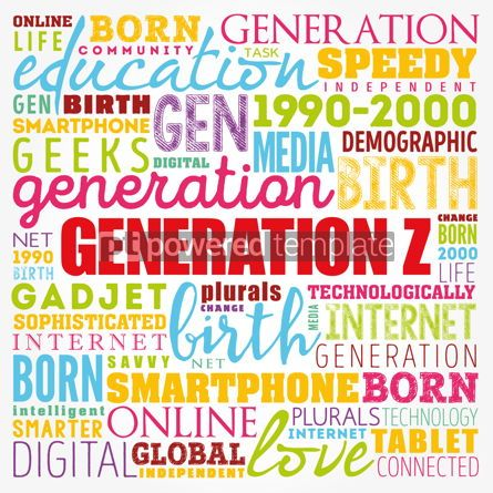 Business: Generation Z Word Cloud collage concept background #17379