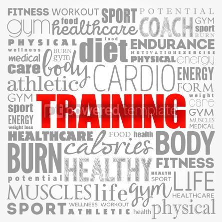 Business: TRAINING word cloud fitness sport health concept background #17380