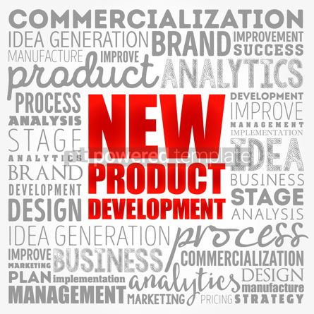 Business: New product development word cloud collage business concept bac #17381