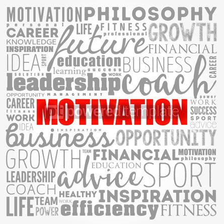 Business: MOTIVATION word cloud collage coaching concept background #17384