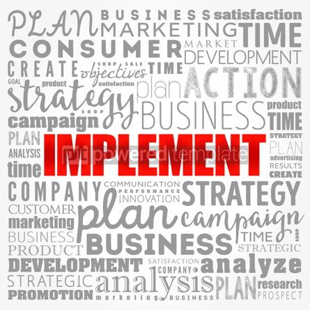 Business: Implement word cloud collage business concept background #17385