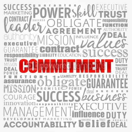 Business: Commitment word cloud collage business concept background #17386