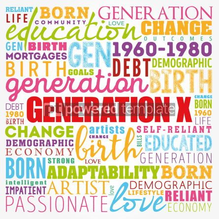 Business: Generation X Word Cloud collage concept background #17392