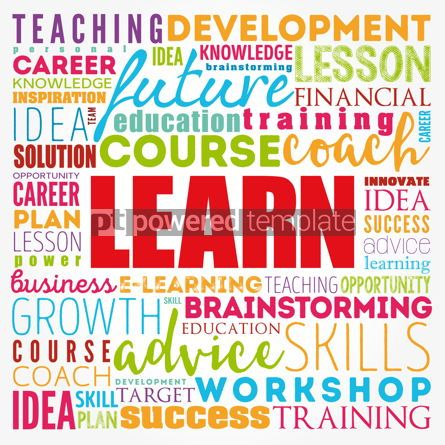 Business: LEARN word cloud collage education concept background #17393