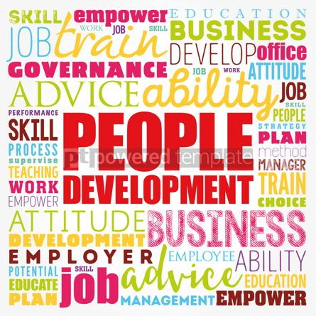 Business: People Development word cloud collage business concept backgrou #17395