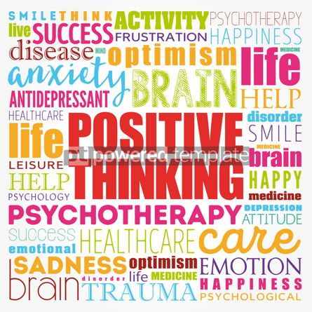 Business: Positive thinking word cloud collage health concept background #17397