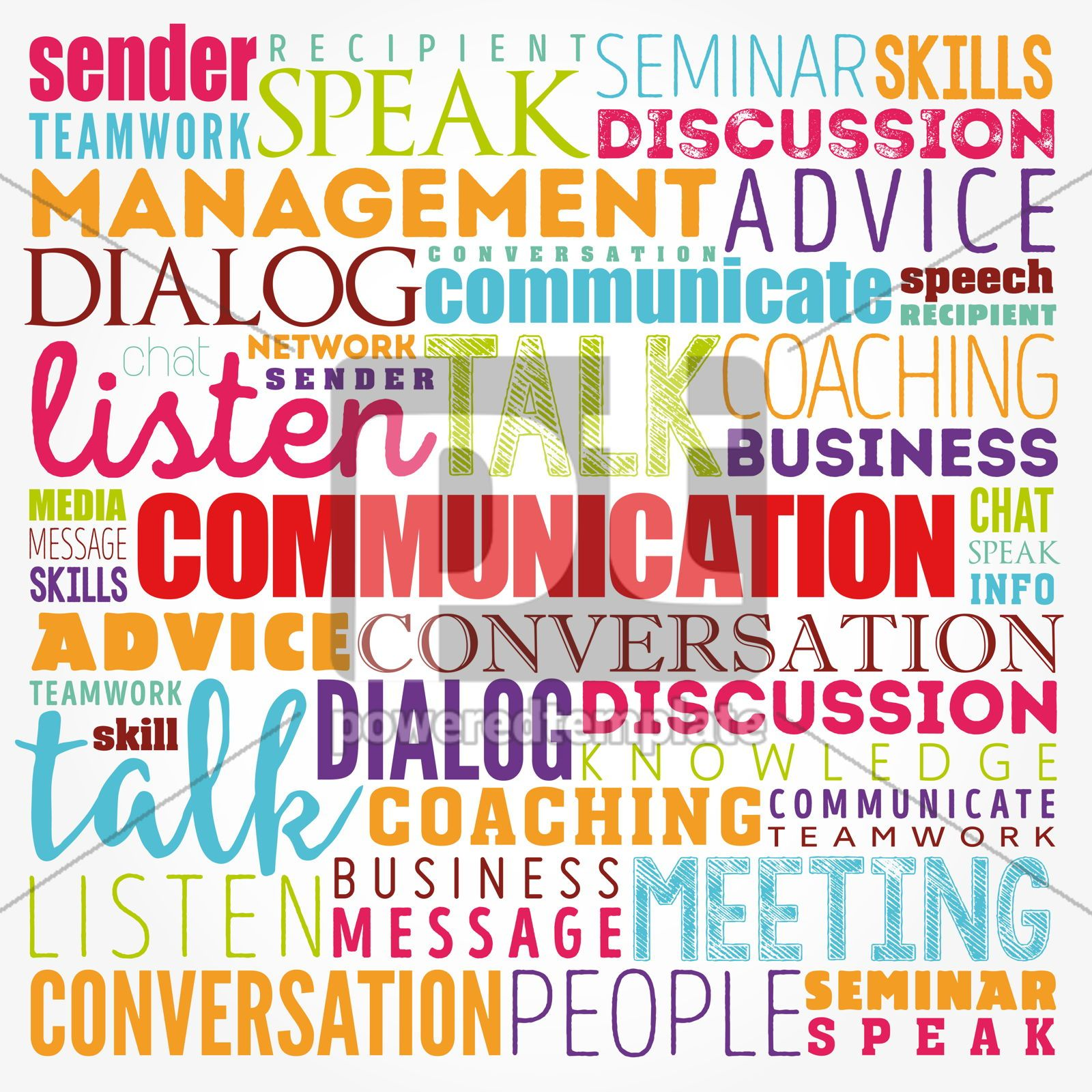 COMMUNICATION word cloud collage business concept background, 17398, Business — PoweredTemplate.com