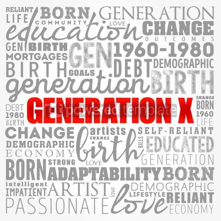 Business: Generation X word cloud collage education concept background #17404