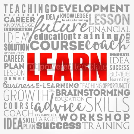 Business: LEARN word cloud collage education concept background #17405