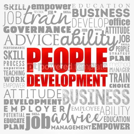 Business: People Development word cloud collage business concept backgrou #17406