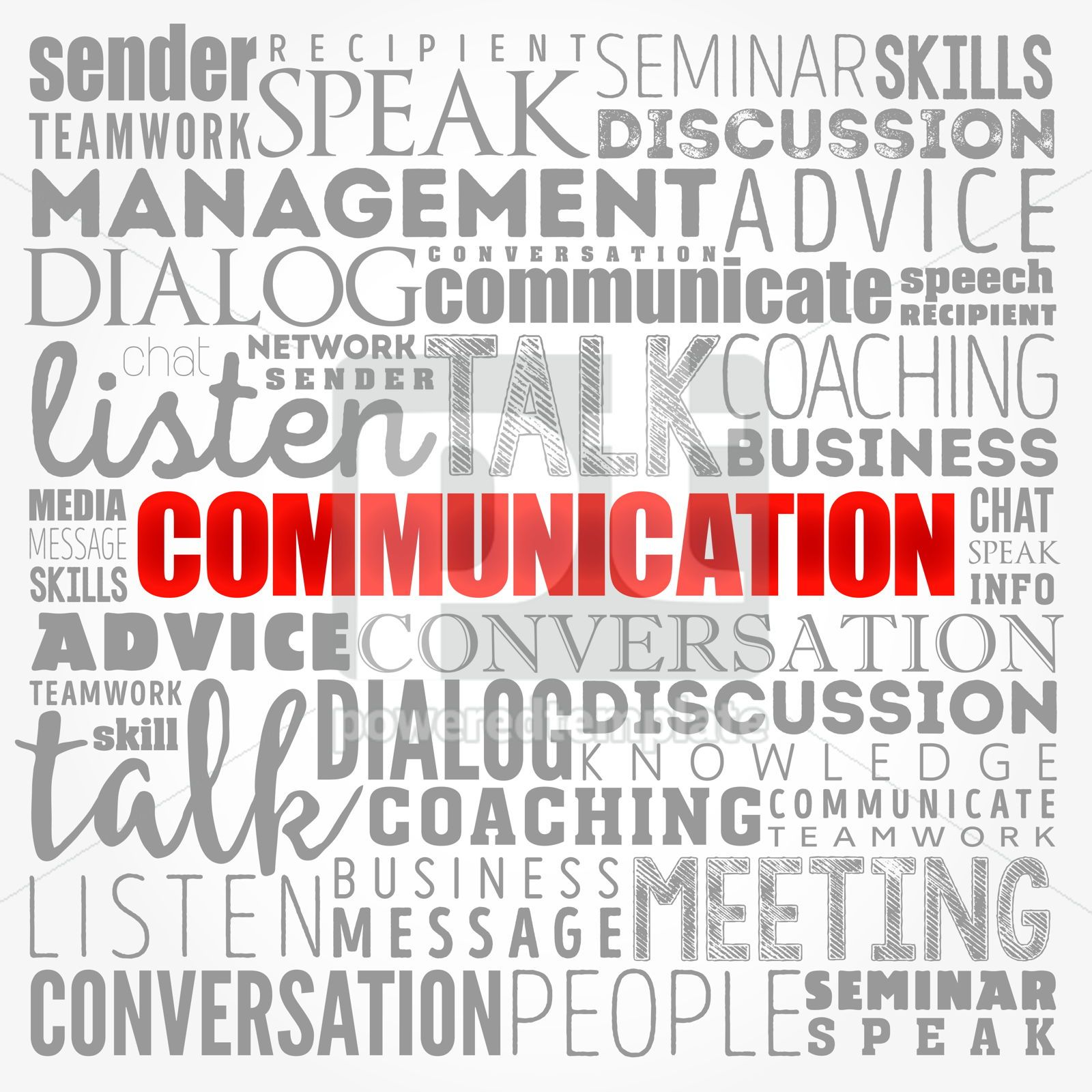 COMMUNICATION word cloud collage business concept background, 17409, Business — PoweredTemplate.com