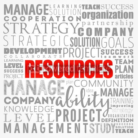 Business: RESOURCES word cloud collage business concept background #17410