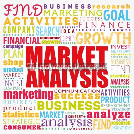 Business: Market Analysis word cloud collage business concept background #17412