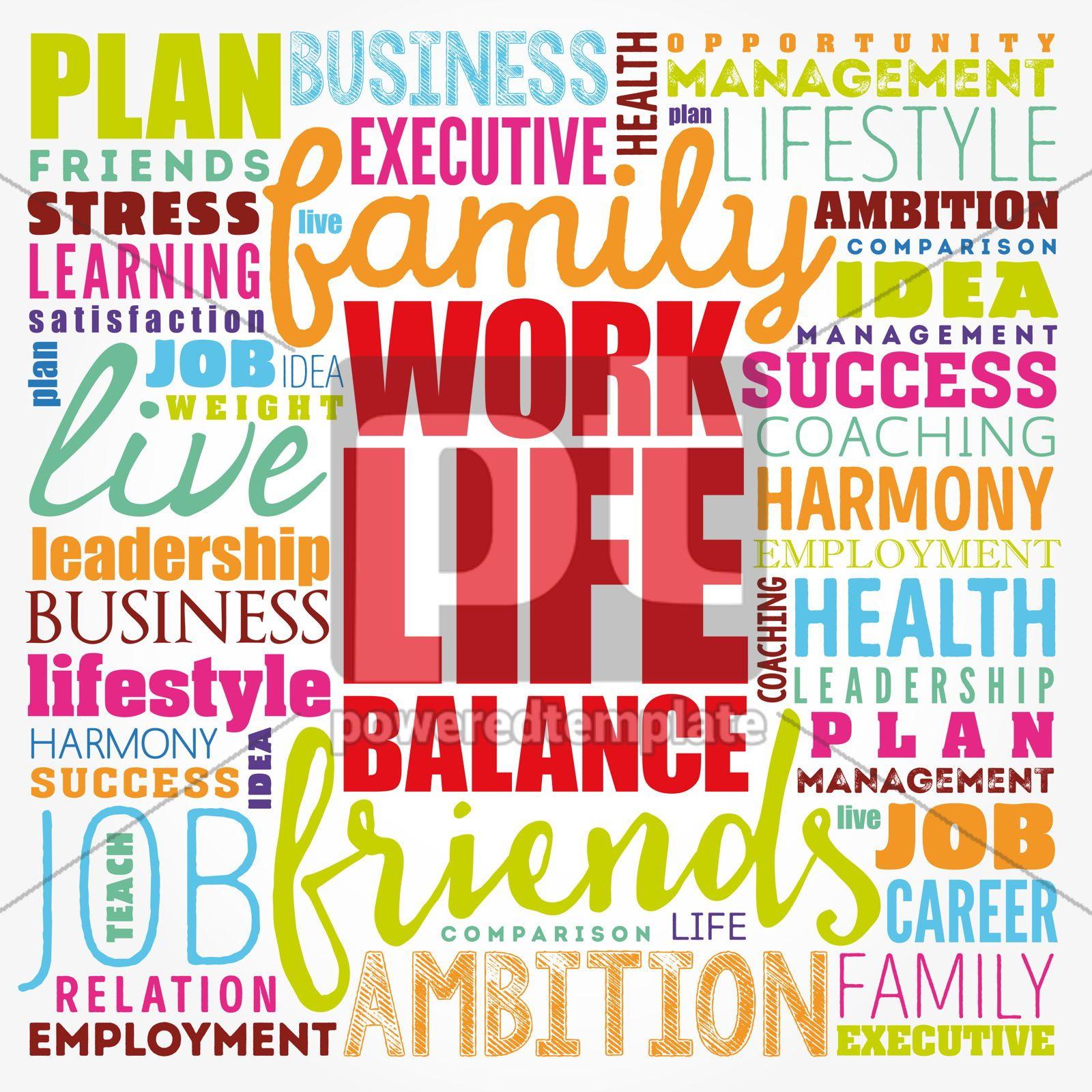 Work Life Balance word cloud collage concept background, 17417, Business — PoweredTemplate.com