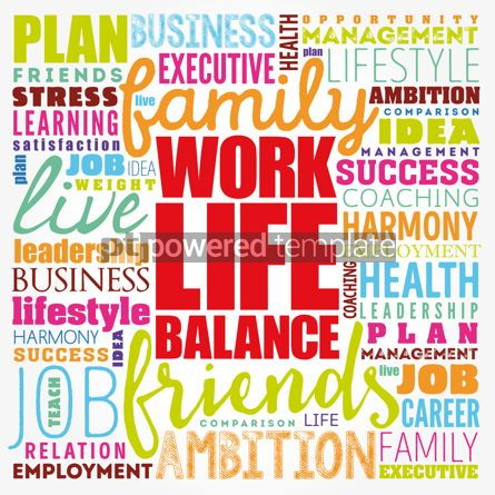 Business: Work Life Balance word cloud collage concept background #17417