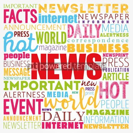 Business: NEWS word cloud collage business concept background #17419