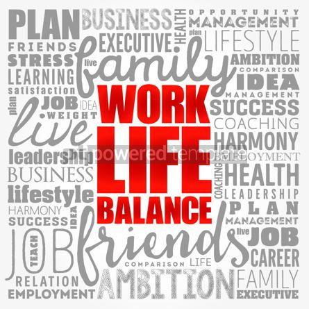 Business: Work Life Balance word cloud collage concept background #17421