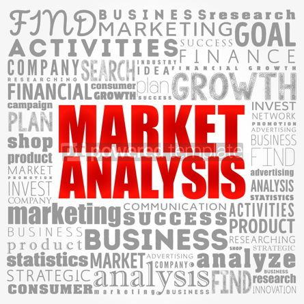 Business: Market Analysis word cloud collage business concept background #17423